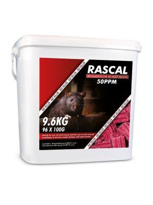 Rascal Bromadiolone 100g Mega Block 9.6kg (96 x 100g)