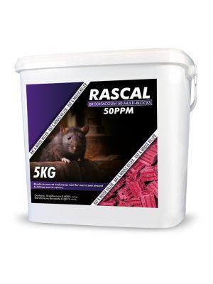 Rascal Brodifacoum 50 muti-edge Block 5kg