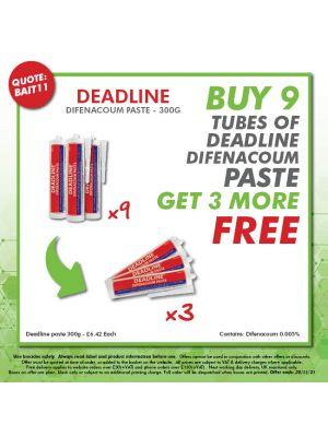 Buy 9 tubes of Deadline Difenacoum Paste - Get 3 more FREE