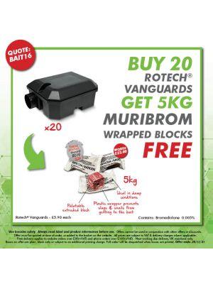 Buy 30 Vanguards - Get 10kg Muribrom Wrapped Blocks FREE