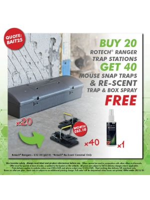 Buy 20 Rangers - Get 40 mouse traps & Re-scent FREE