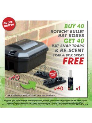 Buy 20 Bullets - Get 20 Rat Traps & Re-scent FREE
