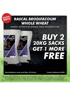 Buy 2 Rascal Brodifacoum 20kg get 1 More FREE
