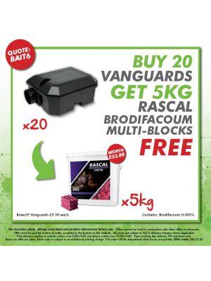 Buy 2 Rascal Brodifacoum Multi-Edge Blocks - Get 1 More FREE