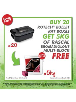 Buy 20 Vanguards - Get 4kg Rascal Brodifacoum Multi-edge Blocks FREE
